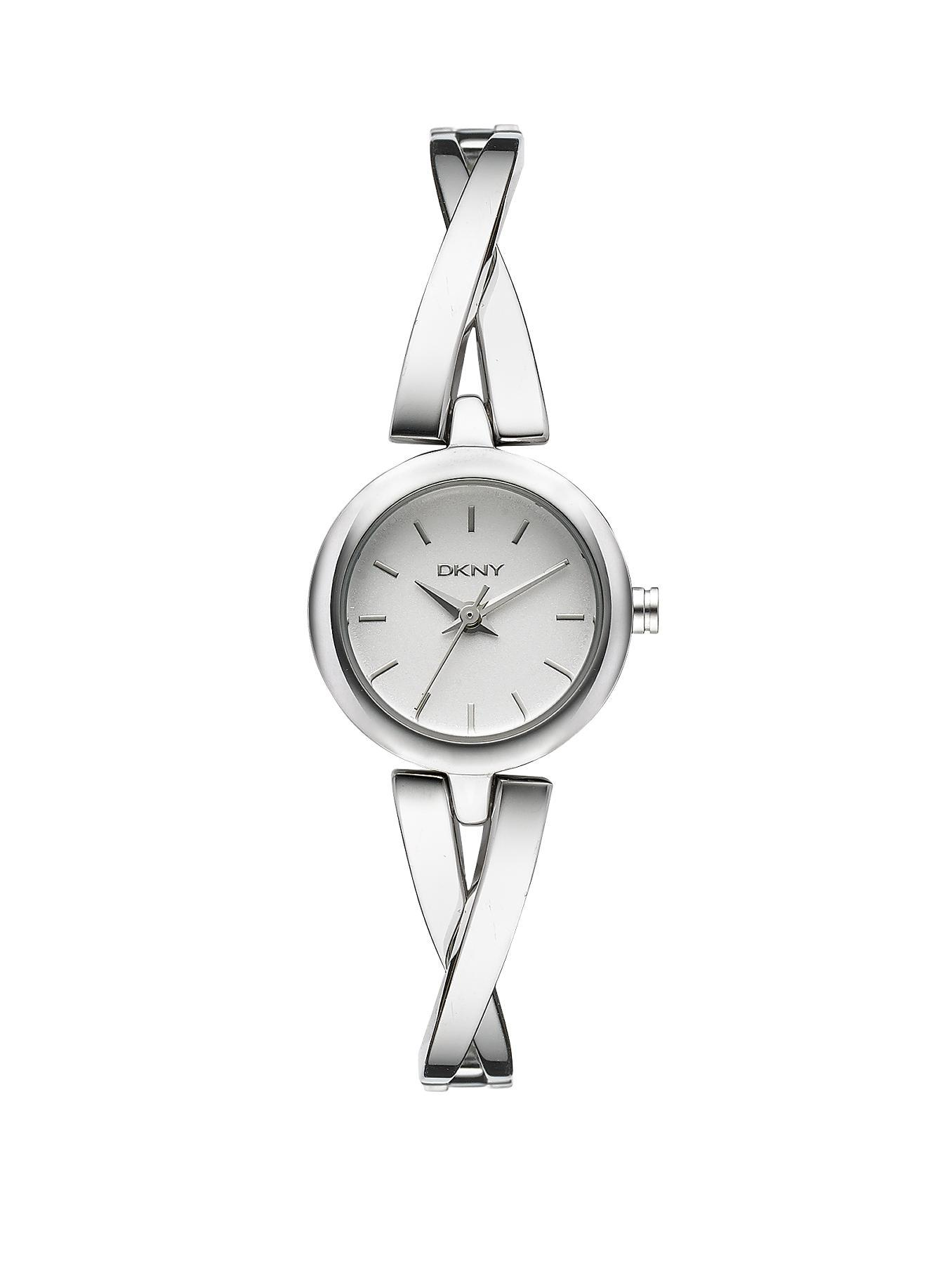 Crosswalk Stainless Steel Half Bangle Ladies Watch