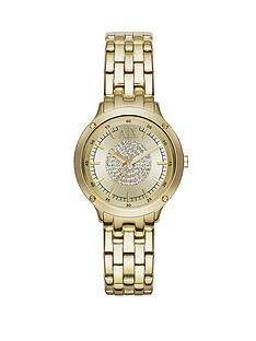 armani-exchange-gold-dial-and-bracelet-ladies-watch