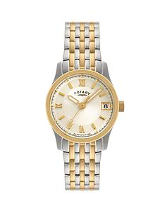 rotary-champagne-dial-two-tone-ladies-watch