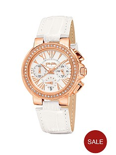 folli-follie-watchalicious-crystal-set-rose-gold-plated-chronograph-white-leather-strap-ladies-watch