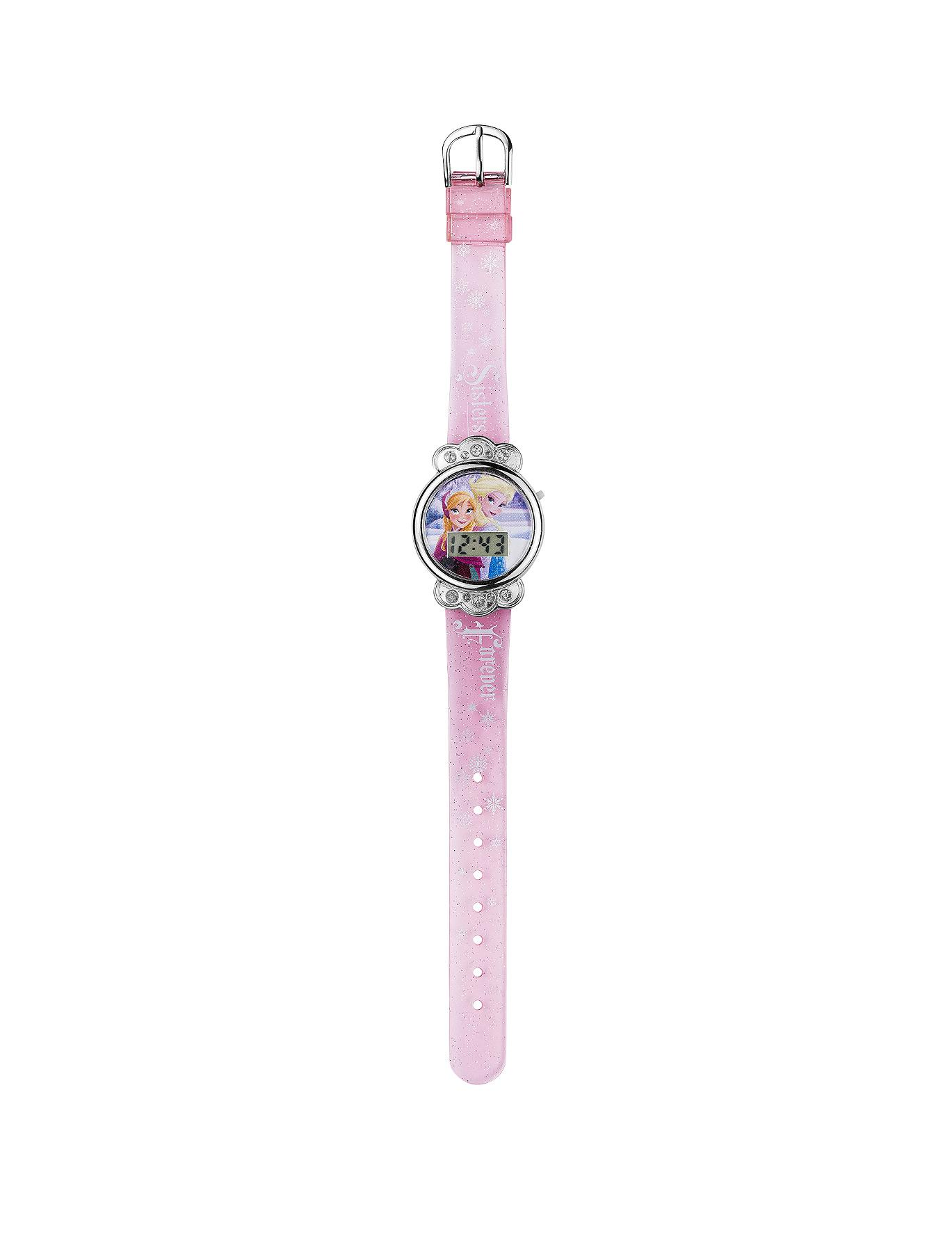 Pink Glitter Strap Watch at Littlewoods