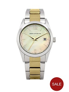 french-connection-two-tone-stainless-steel-ladies-watch