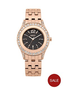oasis-rose-gold-tone-black-face-crystal-set-ladies-watch