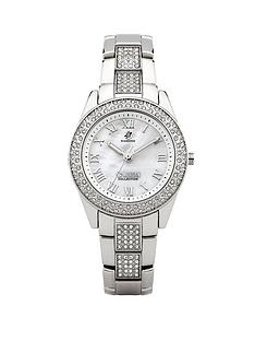 morgan-silver-tone-crystal-set-ladies-watch