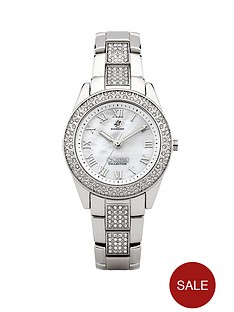 morgan-silver-tone-crystal-set-ladies-watch