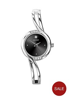 seksy-silver-tone-stone-set-bangle-ladies-watch