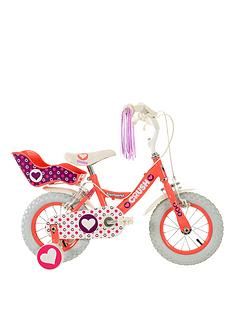townsend-crush-12-inch-girls-bike-with-pneumatic-tyres-and-dolly-carrier