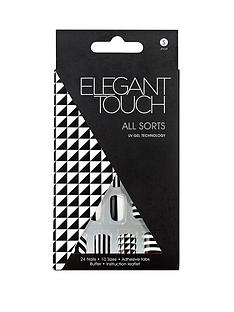 elegant-touch-abstract-nail-allsorts-blackgold