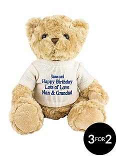 personalised-message-teddy