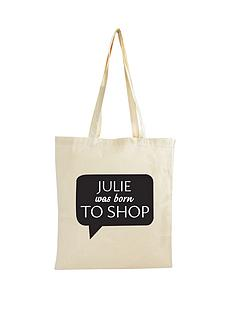 personalised-born-to-shop-canvas-bag
