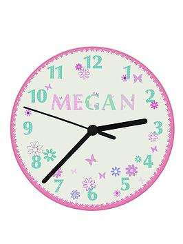 personalised-butterfly-clock