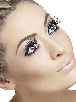 halloween-cobweb-eyelashes-blue-glitter