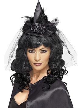 halloween-ladies-black-mini-witch-hat-on-headband