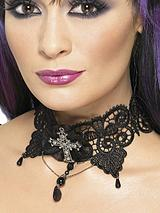 Halloween Ladies Gothic Lace Choker