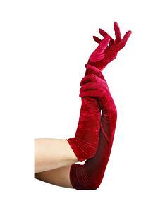 ladies-long-velvet-gloves