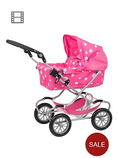 mamas-papas-excel-dolls-pram-strawberry-snow