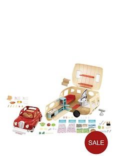 sylvanian-families-caravan-and-family-car