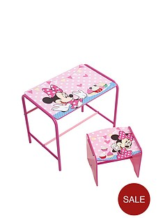 minnie-mouse-metal-and-mdf-desk-and-stool-set