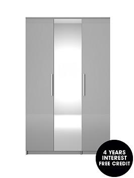 prague-high-gloss-3-door-mirrored-wardrobe
