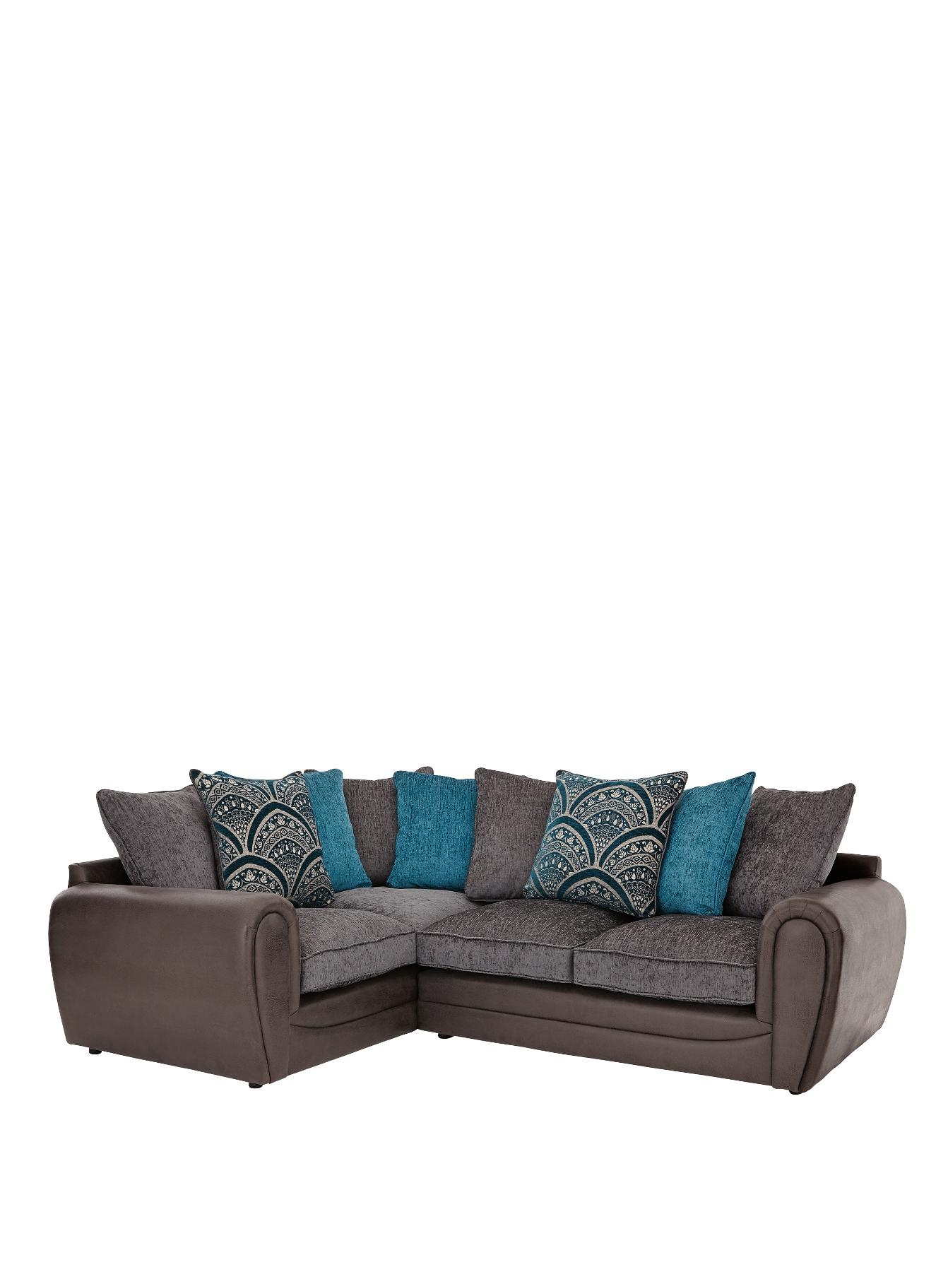 Gatsby Left-Hand Double Arm Corner Group Sofa, Grey,Black,Chocolate at Littlewoods Home Shopping
