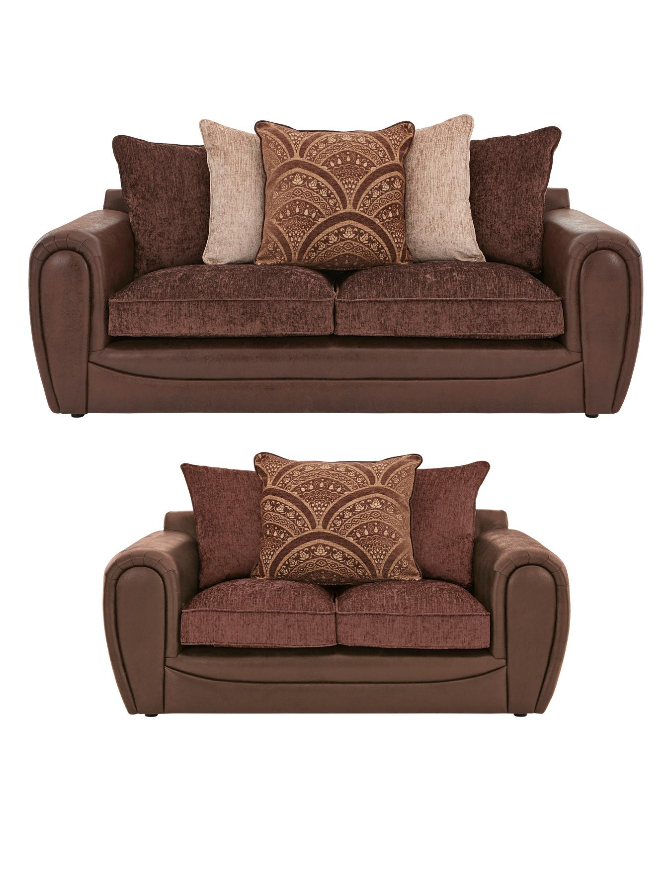 littlewoods gatsby 3 seater plus 2 seater sofa set buy and save grey black chocolate. Black Bedroom Furniture Sets. Home Design Ideas