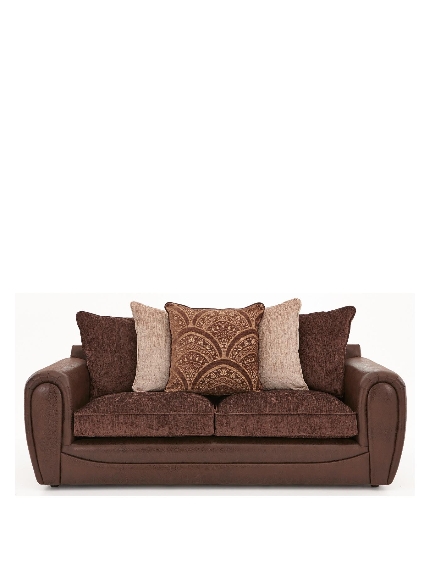 Gatsby 3-Seater Sofa, Chocolate,Grey,Black