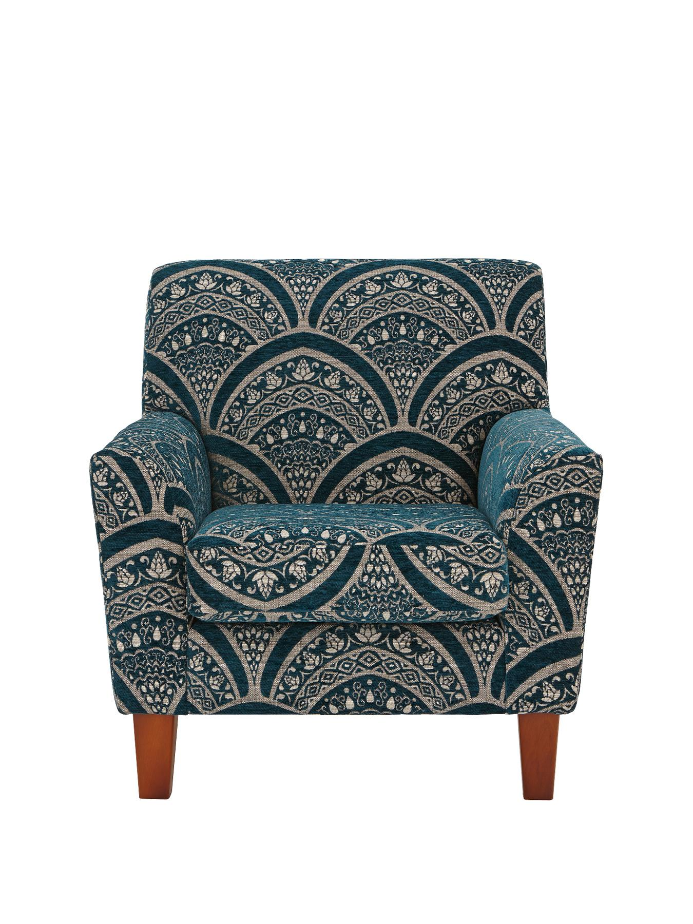 Gatsby Accent Chair, Chocolate,Grey,Black