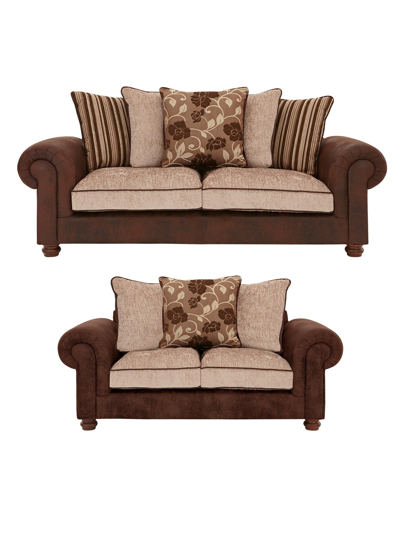 Astley 3- Seater + 2-Seater Sofa Set (Buy and SAVE!), Chocolate,Black at Littlewoods Home Shopping