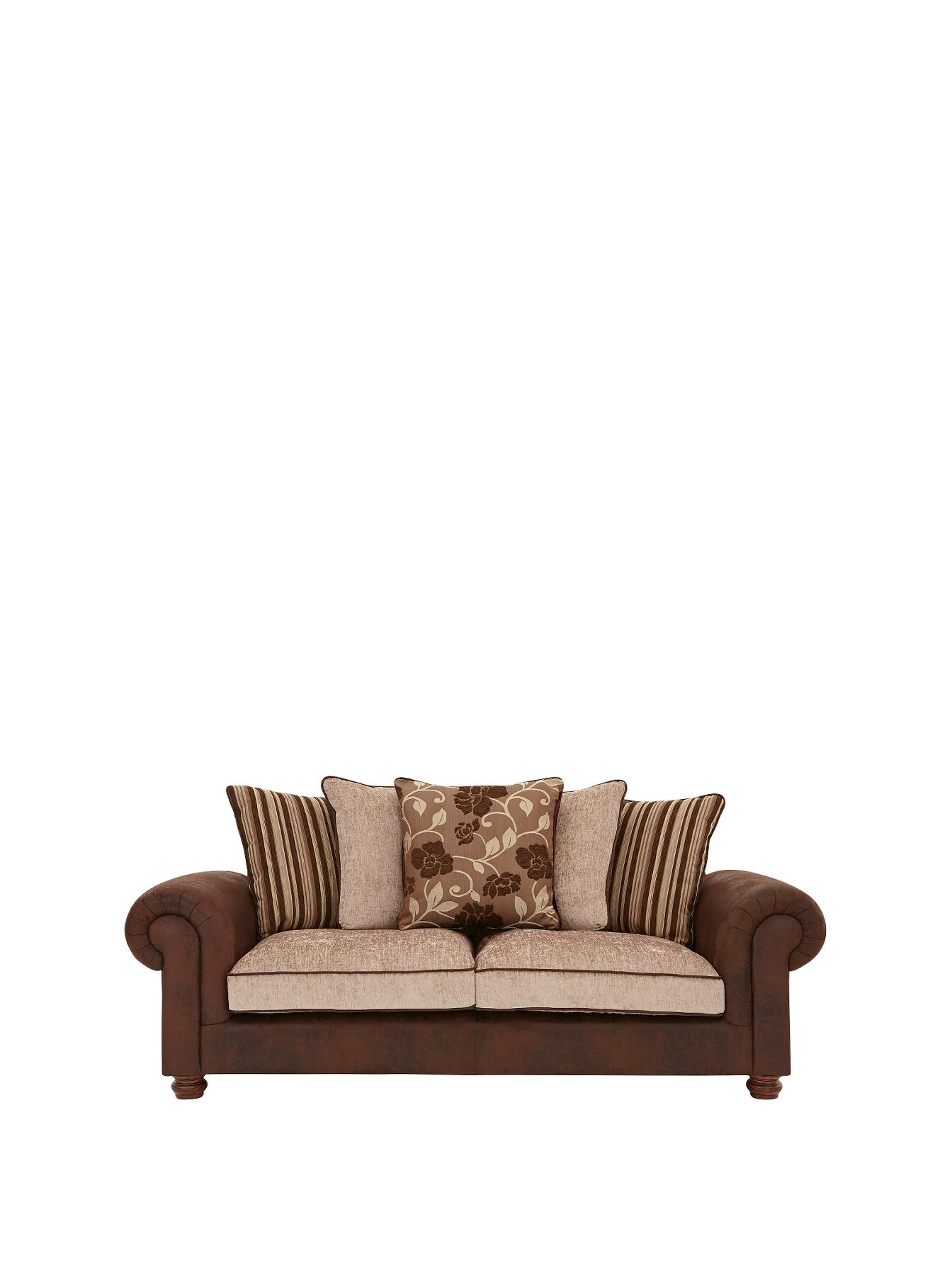 Astley 3-Seater Sofa, Chocolate,Black