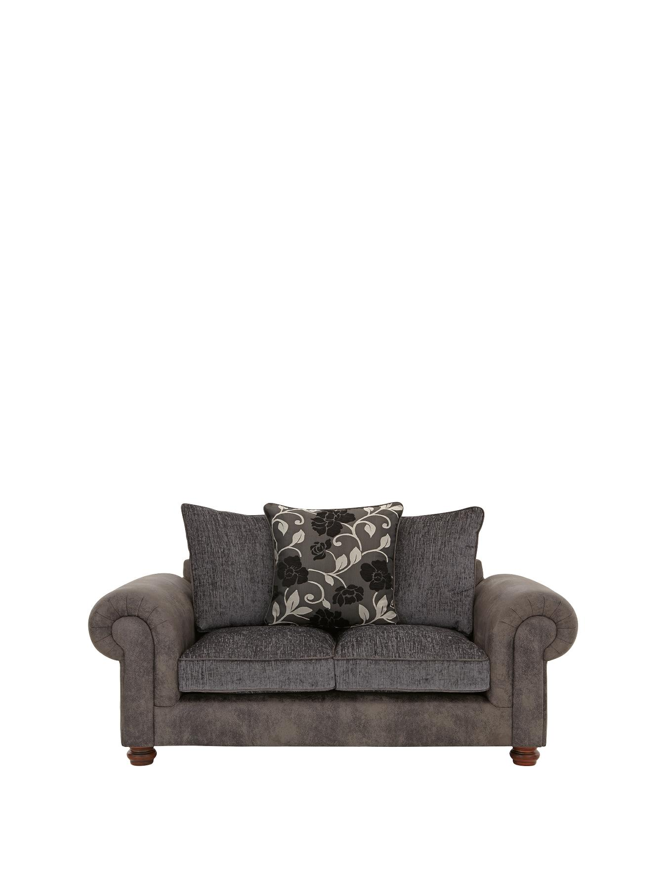 Astley 2-Seater Sofa, Black,Chocolate