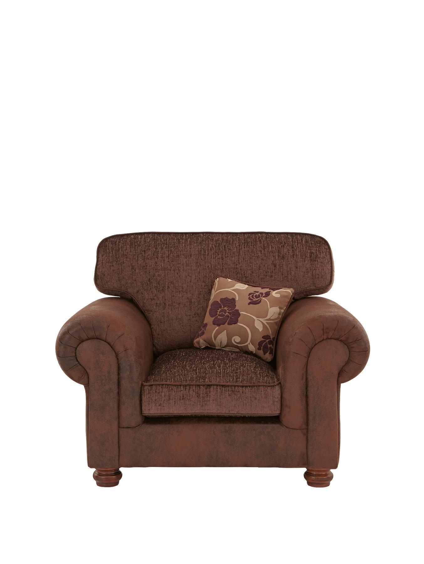 Astley Armchair, Chocolate,Black