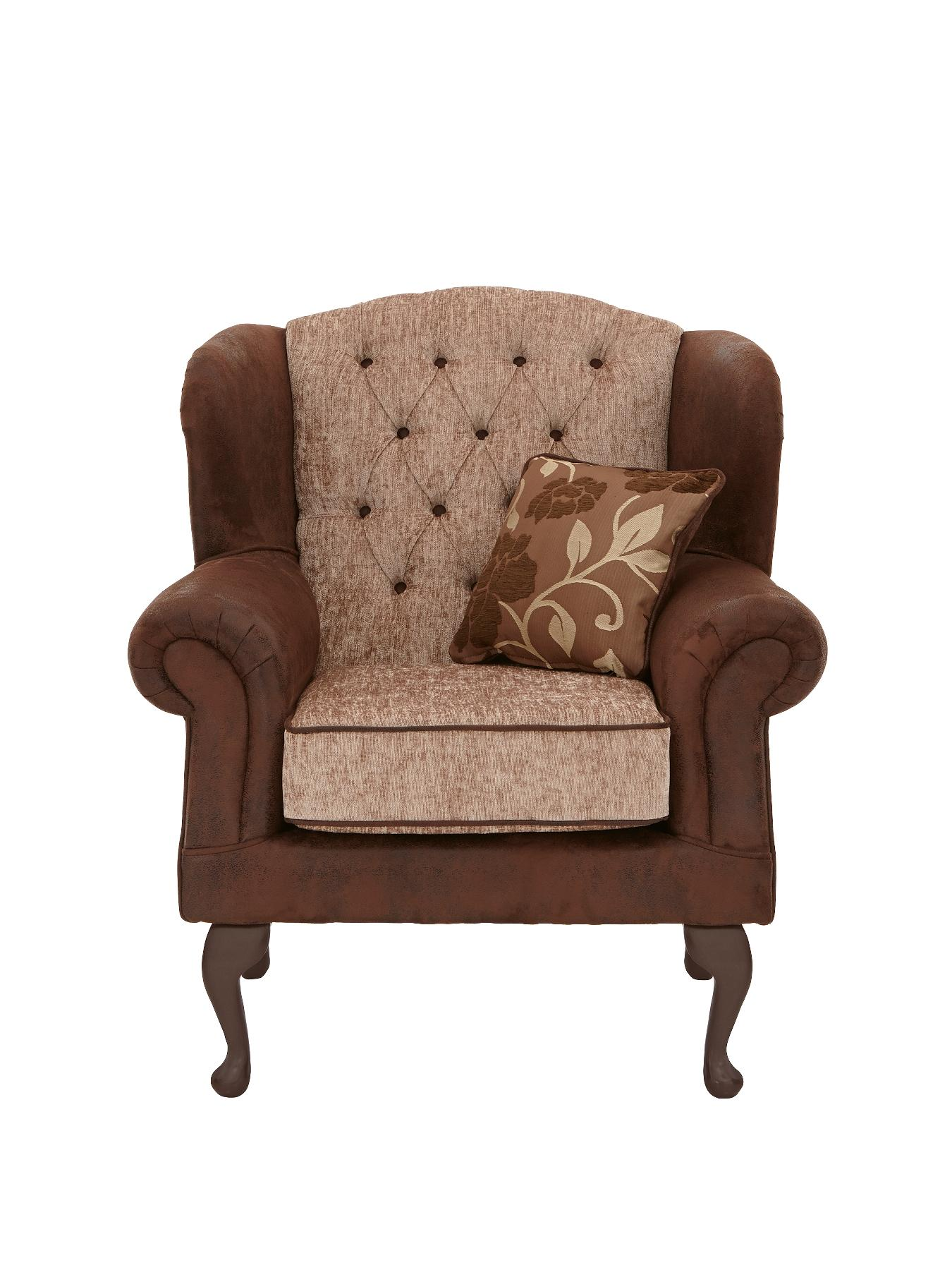 Astley Wing Chair, Chocolate,Black