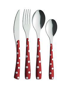 amefa-24-piece-polka-dot-cutlery-set-redwhite
