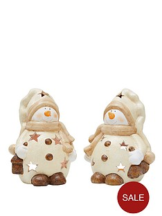 christmas-snowman-tealight-holders-set-of-2