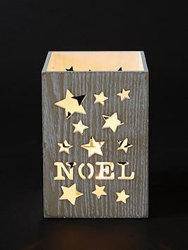 Noel Christmas Candle Holder