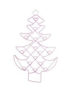 christmas-tree-card-holder-pink