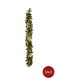 gold-poinsettia-christmas-garland-6ft