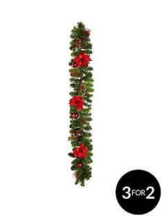 red-poinsettia-christmas-garland-6ft