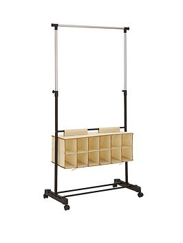ideal-hanging-rail-with-shoe-storage-blacksilver