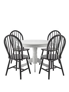kentucky-white-dining-table-with-4-black-chairs