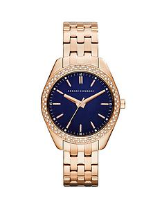 armani-exchange-blue-dial-and-rose-gold-ip-plated-bracelet-ladies-watch