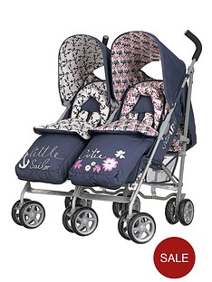 obaby-leto-twin-stroller-and-footmuffs-little-cutie-and-sailor