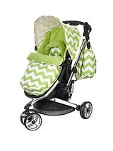 Chase 3 Wheeler Pushchair - Zigzag Lime