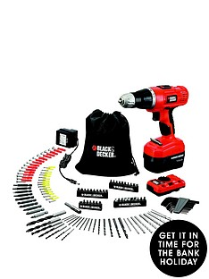 black-decker-epc148vda-gb-144-volt-combi-hammer-drill-kit-manual-pipe-and-wire-detector-and-150-accessories-free-prize-draw-entry