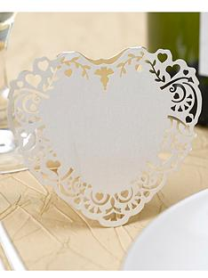 vintage-romance-free-standing-laser-cut-heart-place-cards-10-pack