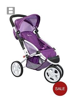 silver-cross-x4-dolls-stroller-damson