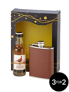 famous-grouse-hip-flask-set