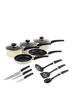 morphy-richards-5-piece-pan-set-with-6-piece-tool-set-cream