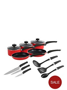 morphy-richards-5-piece-pan-set-with-6-piece-tool-set-red