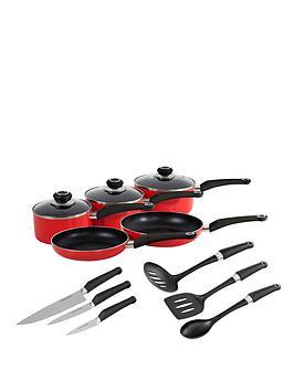 morphy-richards-5-piece-pan-set-with-6-piece-tool-set-red